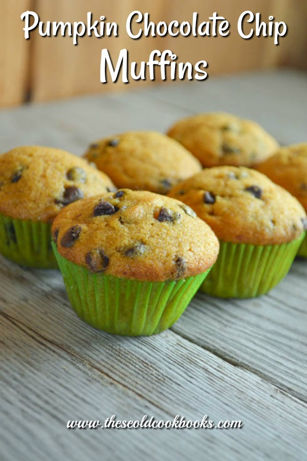Make these Pumpkin Chocolate Chip Muffins as regular, jumbo or mini muffins. Any way you make them they are delicious.