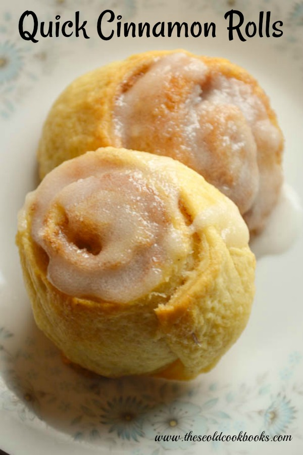 These Quick Cinnamon Rolls from refrigerated crescent rolls are perfect for a quick yet sweet breakfast treat.