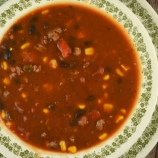 This Easy Crock Pot Taco Soup using ground beef is sure to become a go-to meal the entire family will eat and you won't mind them asking for it often because it's simple to throw together.