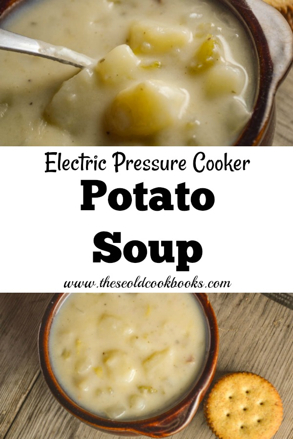 This Pressure Cooker Potato Soup has all the flavor of making it on the stovetop but takes a fraction of the time. Using your InstantPot, this soup can be on the table in no time!