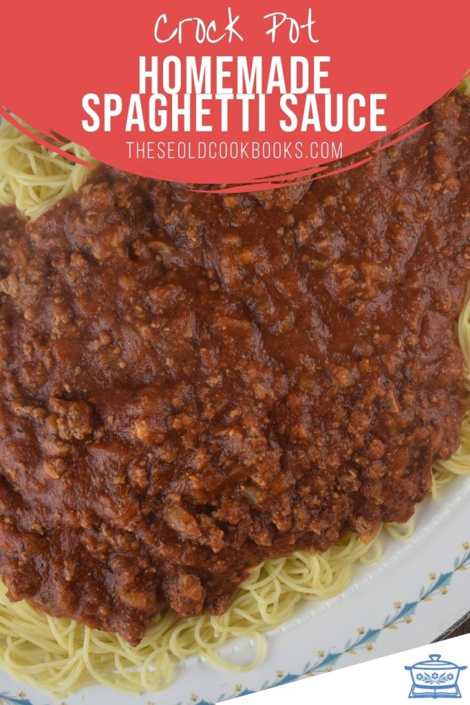 This Slow Cooker Spaghetti Sauce is full of flavor and hearty, featuring ground beef and sausage. Just throw the ingredients in the crock pot and enjoy.