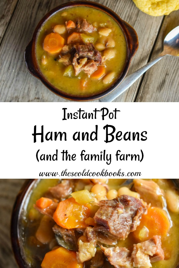This Instant Pot Ham and Beans recipe has all the flavor but are much quicker to make with little prep work, including no soaking of beans needed. Ham and beans are one of those classics that brings back those memories of Grandma and days gone by.