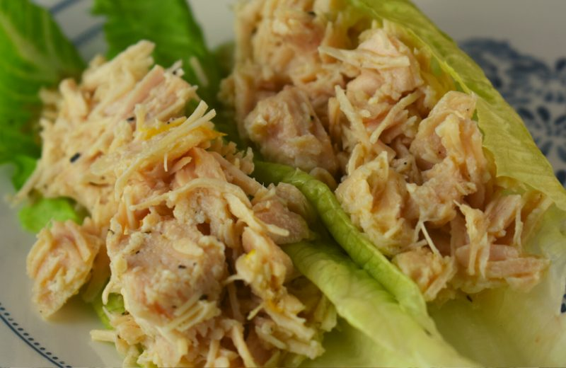 Sometimes eating healthier really is easy, like with this Low Carb Chicken Salad (no mayo). This Lemon Chicken Salad with Canned Chicken Recipe only takes 5 minute to prepare, and is perfect served on your favorite type of lettuce. By using canned chicken, you can whip this dish up in no time.