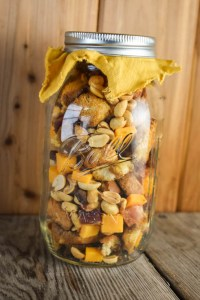 Bacon and Cheese Snack Mix is a salty and savory treat perfect for your next party. This recipe features peanuts, cheddar cheese, toasted bread cubes and, of course, bacon.