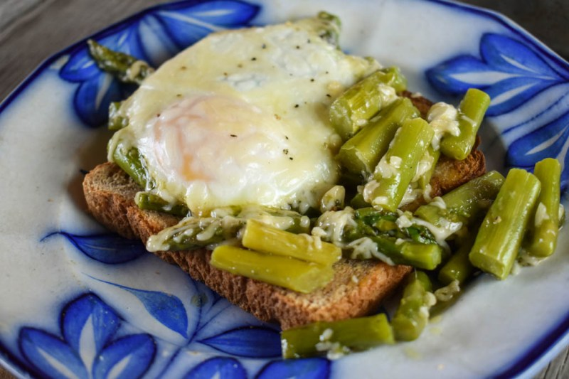 Baked Eggs and Asparagus with Parmesan cheese recipe is a perfect dish for brunch. Simply adjust the cooking time to get eggs cooked to your liking.
