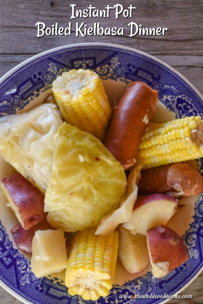 This Instant Pot Boiled Kielbasa Dinner features cabbage, potatoes and corn and is ready in less than 15 minutes. It is a perfect summer meal when sweet corn is in season that the entire family will enjoy.