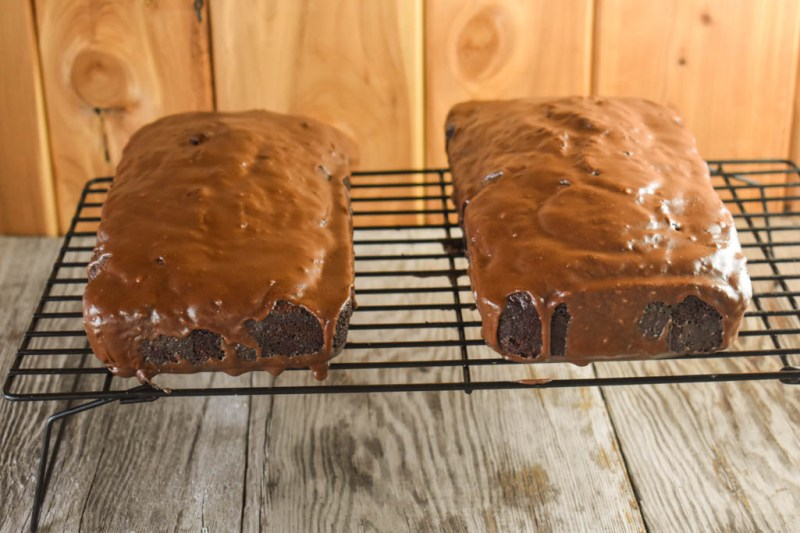 Chocolate Zucchini Bread with Mocha Glaze is a great way to use the plentiful summertime vegetable, and it is really easy to freeze the loaves to enjoy all year long.