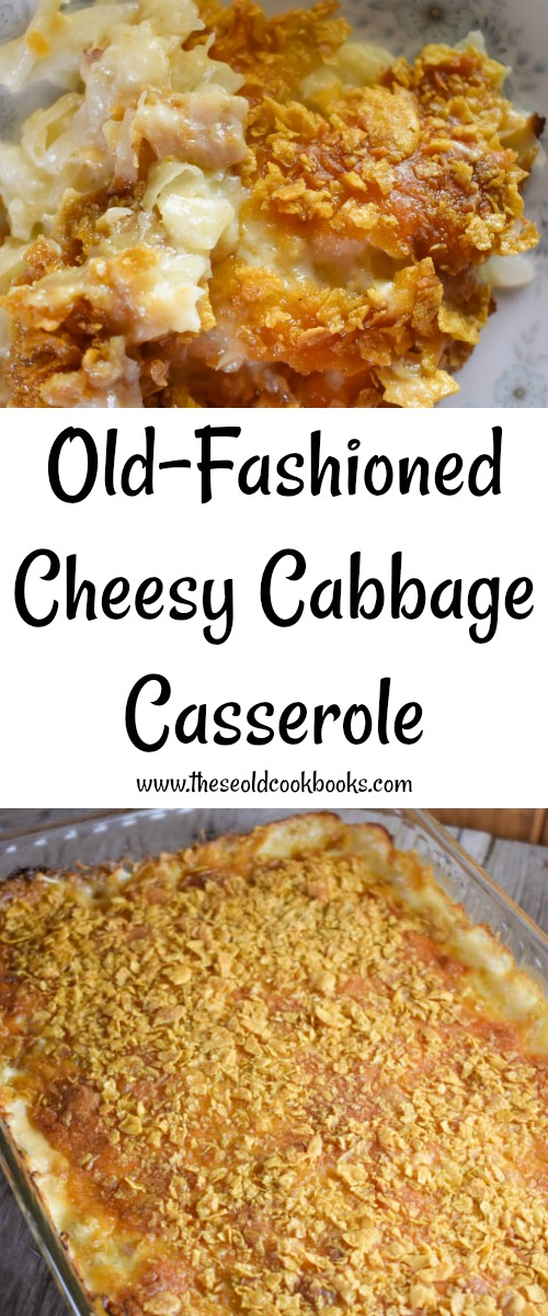 This Old-Fashioned Cheesy Cabbage Casserole recipe is a creamy side dish with a crunchy topping that everyone will enjoy. This comforting side dish features a list of common ingredients for easy prep.