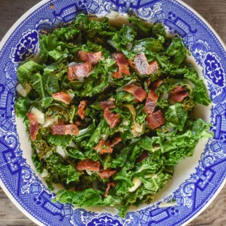 This Tangy Wilted Kale and Bacon recipe is easy to make and delicious to eat.