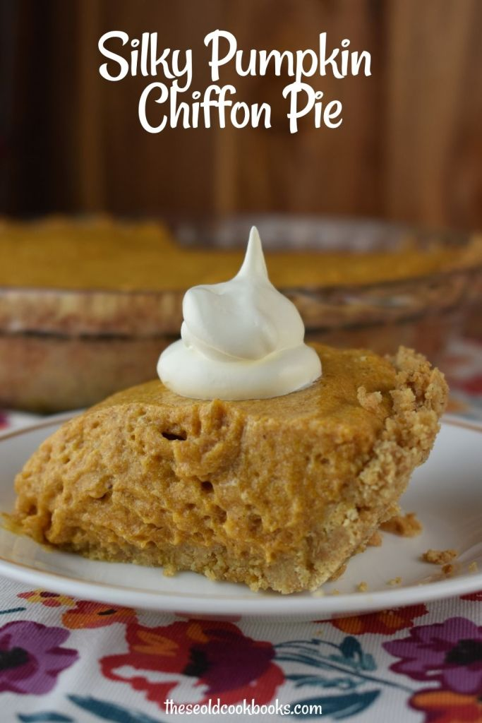 Grandma's Pumpkin Chiffon Pie is a simple, creamy no-bake alternative to the traditional pumpkin pie. This silky, smooth pumpkin chiffon pie was a staple on our family's Thanksgiving dinner table throughout our childhood.