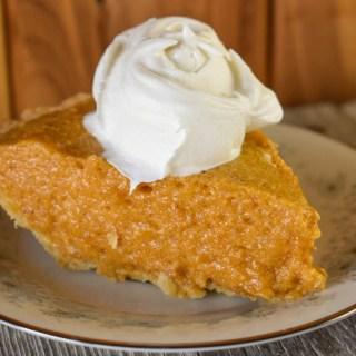 Grandma's Pumpkin Chiffon Pie