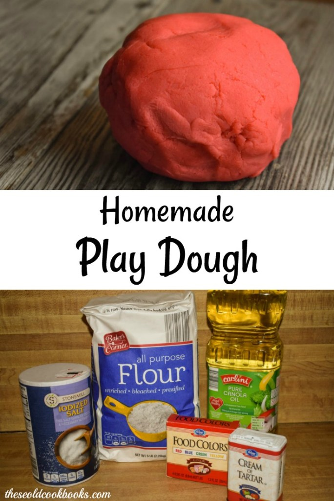 This Homemade Play Dough recipe takes just 10 minutes to make and uses ingredients that are likely already in your pantry.