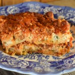 Slow Cooker Bloody Mary Lasagna will be a hit with the entire family with its cheesy and meaty layers.