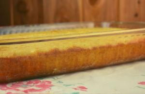 Maryann's Sweet Cornbread is quick to put together using baking mix, cornmeal and creamed corn. It's a perfect side dish with your favorite chili or soup.