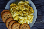 4 Ingredient Egg Salad Without Mayo consists of eggs, relish, mustard and cream of chicken soup. 4 simple ingredients that can be made into a quick, delicious dinner or snack.