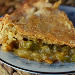 Grandma's Rhubarb Pie is rustic but so delicious.