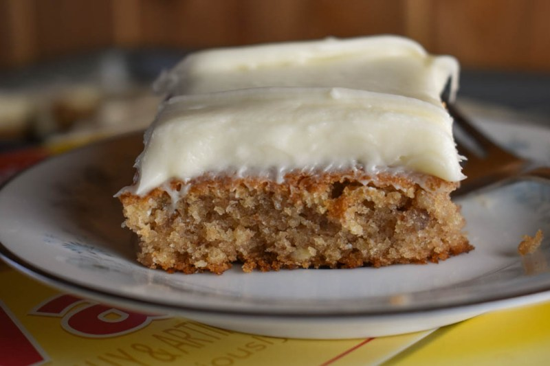 This Vanilla Wafer Banana Cake is a delicious treat topped with a smooth cream cheese icing. If you like banana pudding, you will love the flavor of this cake.