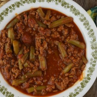 This green bean chili is full of vegetables and flavor.