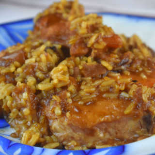 Crock Pot French Onion Pork Chops and Rice is a meal for the whole family. Let the pork chops cook all day and just add the rice when you are ready to eat.