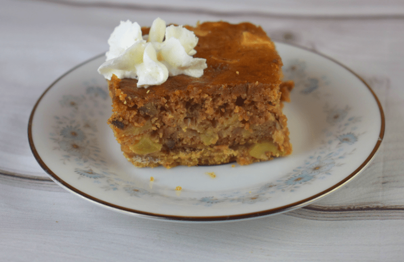 Grandma's Sour Cream Apple Squares is an old-fashioned dessert that will have your family begging for more. These delicious bars have two layers including a creamy apple layer and a sweet brown sugar crust. Serve these with whipped cream just like our Grandma did.