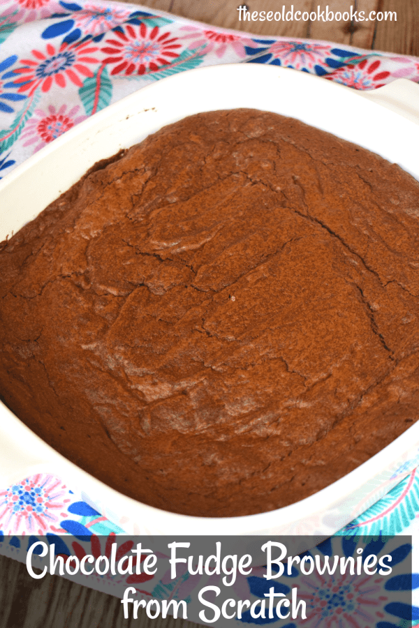 Chocolate Fudge Brownies from scratch are a cinch to make. These Easy Homemade Brownies without a box use a handful of pantry staples to make a chewy brownie that rivals any box mix.