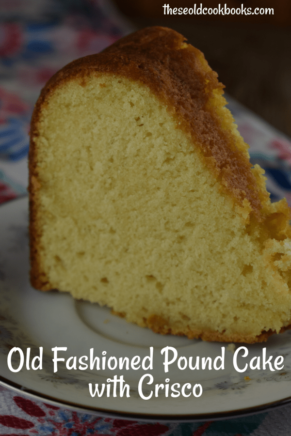 Grandma's Traditional Pound Cake is a special version uses butter, margarine and Crisco for a perfectly moist and dense texture.  Amateurs and professional bakers alike will fall for this easy recipe. Serve it up for dessert or breakfast, it will be a favorite for all.