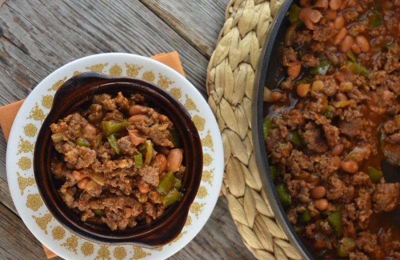 Southern Pinto Beans and Sausage is a five ingredient dinner that is served up in 20 minutes.  This deep South recipe is hearty with the perfect amount of spice. Serve it up with cornbread for the perfect combination.