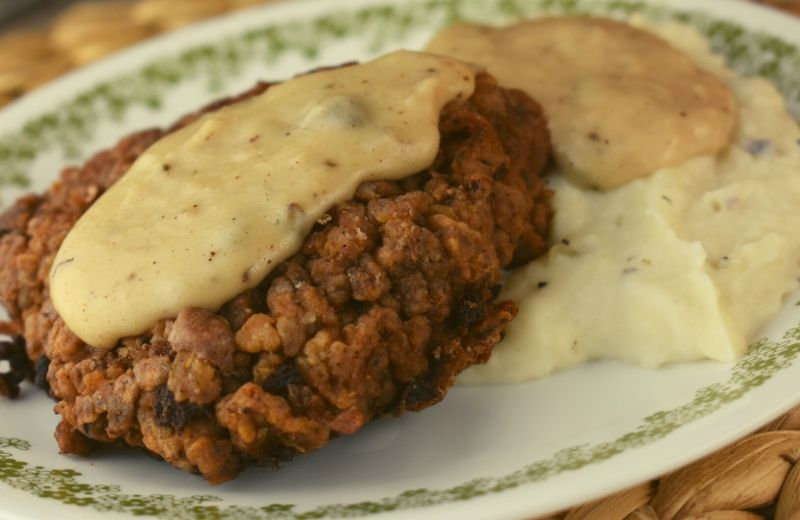 Chicken Fried Steak (also known as Fried Cubed Steak or Country Fried Steak) is downright delicious. This 20-minute meal consists of perfectly seasoned and breaded cubed steak that is pan fried and topped with homemade gravy.