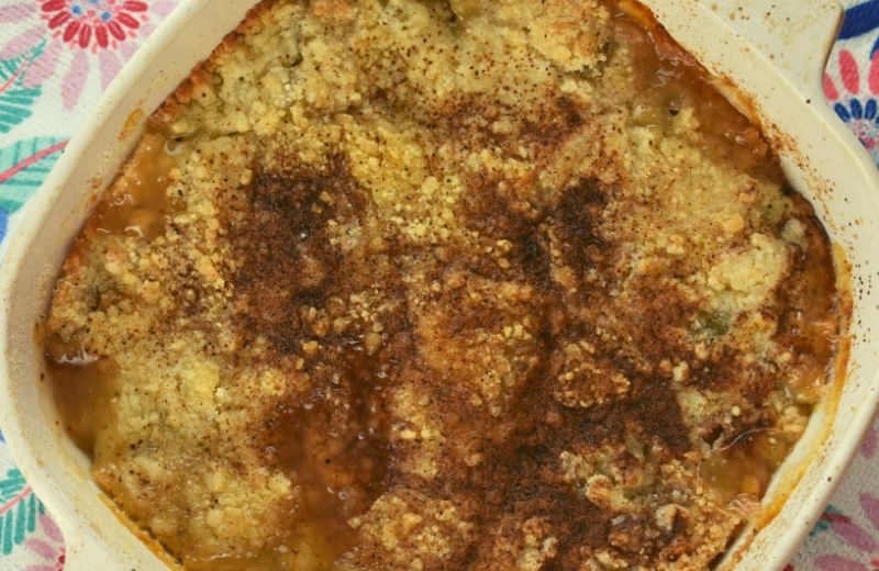 Eaten plain or with ice cream, you can't beat Old Fashioned Rhubarb Cobbler.  With few steps and simple ingredients, this recipe is a keeper.