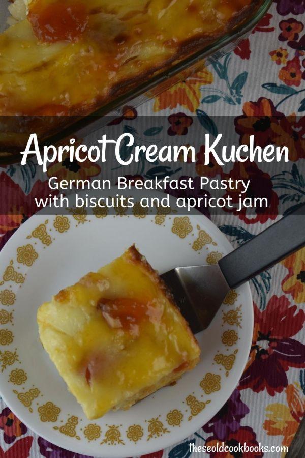 German Apricot Cream Kuchen