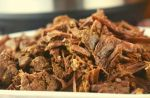 Instant Pot Authentic Beef Barbacoa is a simple, no fuss shredded beef taco recipe. A blend of spices gets rubbed into a beef chuck, and then pressure cooked for a tender-fall apart meal that can be served in tortillas or over rice.