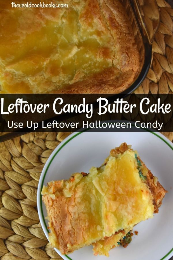 Leftover Candy Ooey Gooey Cake is the perfect way to use up leftover Halloween candy. Using a boxed cake mix, this candy dessert couldn't get much easier.