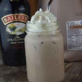 A decadent boozy chocolate milk is as simple as two ingredients.  Chocolate Baileys Drink is a two ingredient cocktail consisting of chocolate milk and Baileys Irish Cream.