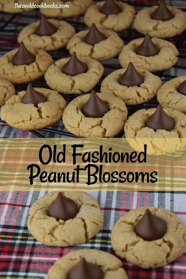 Old Fashioned Peanut Blossoms are called America's Favorite Christmas Cookie for a reason. They are the perfect marriage of peanut butter and chocolate, and kids go nuts for these classic holiday cookies.