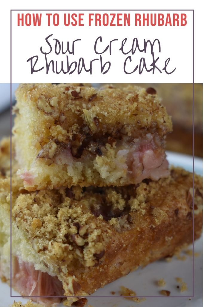 Old Fashioned Rhubarb cake can be made with fresh or frozen rhubarb. This rhubarb recipe with sour cream has a cinnamon sugar topping.