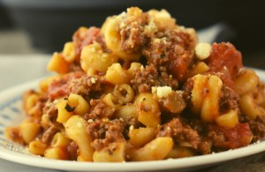 Instant Pot American Goulash (Instant Pot Chop Suey Recipe) updates our classic ground beef goulash into a quick pressure-cooker recipe.  Using hamburger and elbow macaroni, this goulash recipe is a cult favorite with kids.
