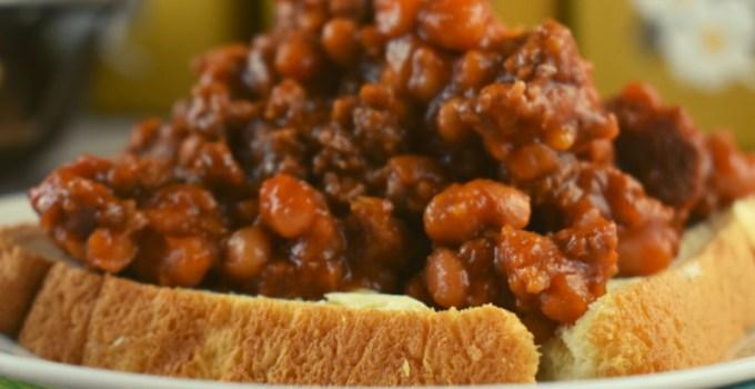 Hamburger Pork and Bean Skillet