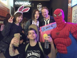Chillin with my buddies Spider Man, Ghost Rider, and 오빠차! Plus Rabbit and Rancho I guess...