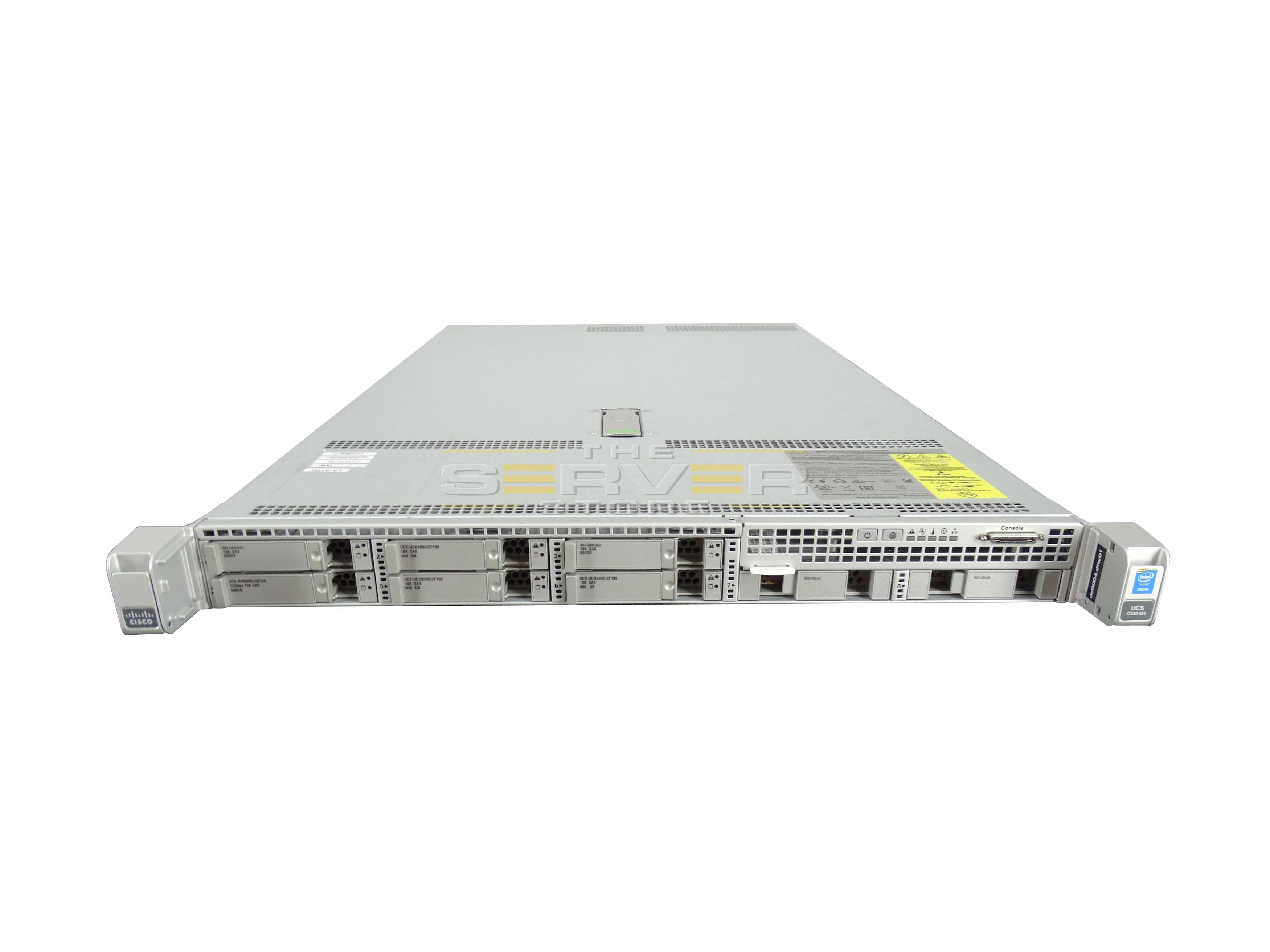 cisco ucs c220 m4 8x sff 1u rack mount server