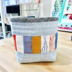 I made another sewingchickthreadcatcher using robertkaufman fabrics by Carolyn Friedlanderhellip