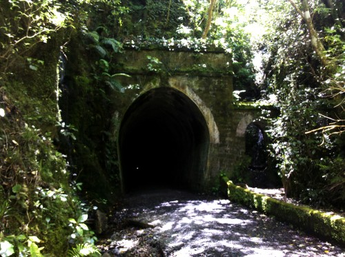 A photo of the other side of the Summit Tunnel.
