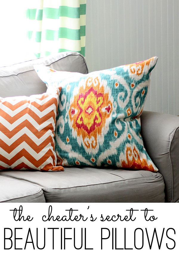 diy pillows the cheater s secret to