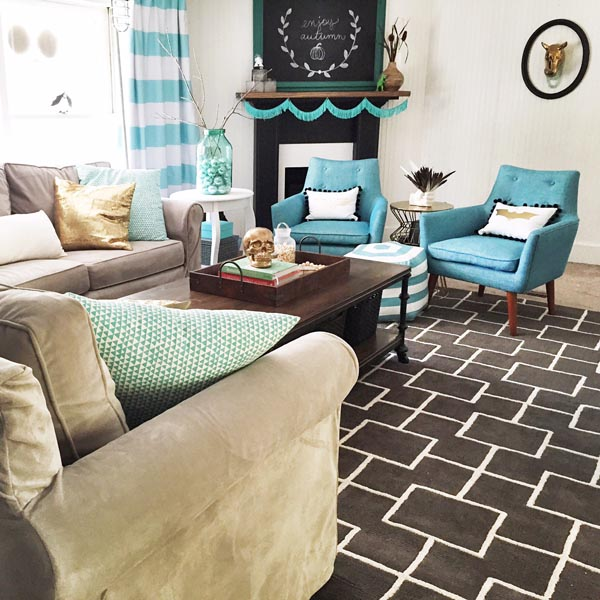 Bright, fun living room on a budget on Fun Living Room Ideas  id=79875