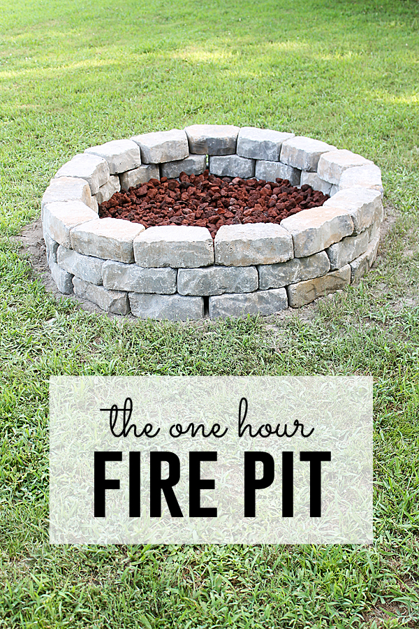 Fire Pit Project (you can do in one hour!) on Diy Outdoor Fire  id=81138