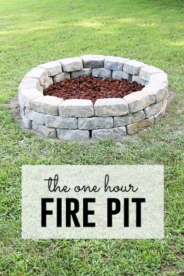 Easy DIY fire pit