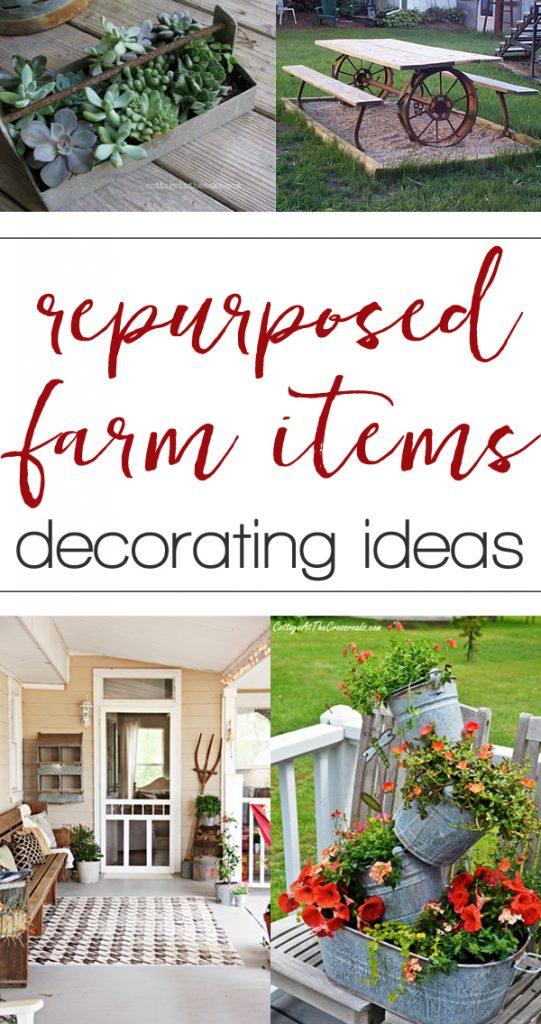 Repurposed Farm Equipment Ideas For Home Decorating