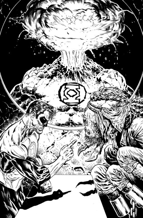 The Green Lantern 2 black and white cover