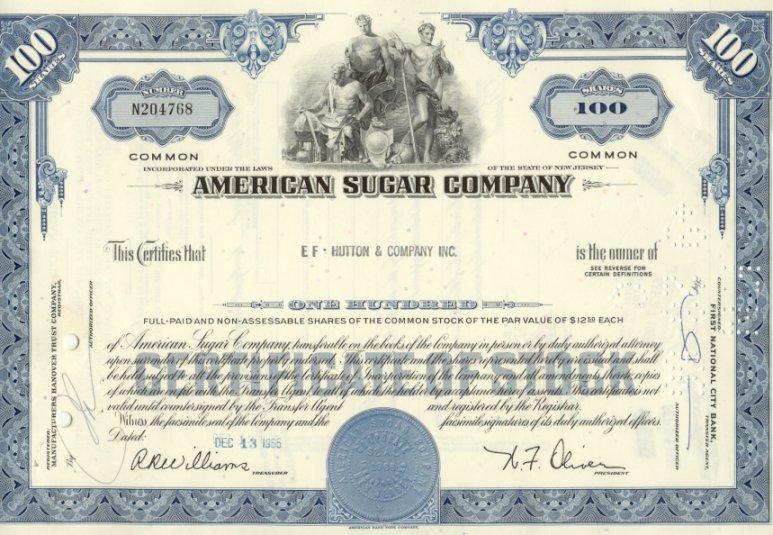 American Sugar Stock