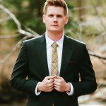 olive green custom wedding suit