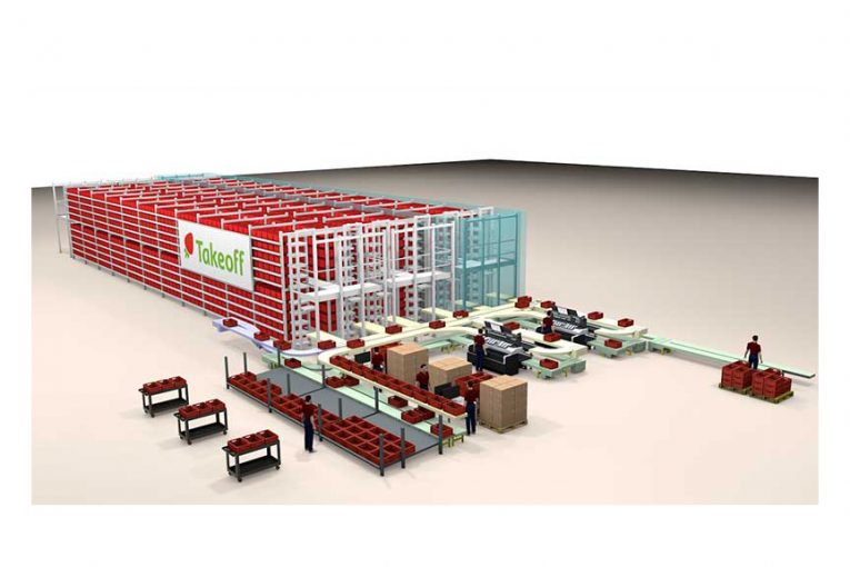 A rendering of Takeoff Technologies' fulfillment center